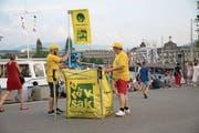 Die «Dräksäk» am Luzerner Fest im Einsatz. (Bild: PD)