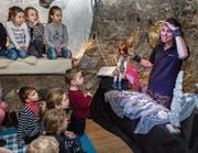 Andrea Gätzi zieht die Kinder durch ihre Aufführungen in ihren Bann. (Bild: Patrick Hürlimann (Zug, 3. Februar 2018))