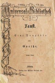 Band 1 der Universal-Bibliothek in der ersten Ausgabe 1867: Goethes «Faust».