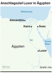 Eine Karte von Ägypten. (Bild: mlu)