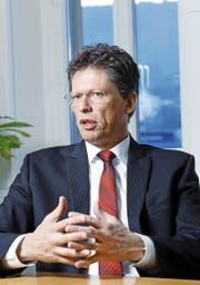 Mit dem aus Deutschland stammenden Matthias Rebellius (50) hat bei der in der Stadt Zug domizilierten Siemens BT eine neue Ära begonnen. (Bild Werner Schelbert)