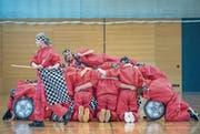 Die 6. Klasse aus Hohenrain probt ihren Auftritt für den School Dance Award. (Bild: Pius Amrein (8. März 2018))