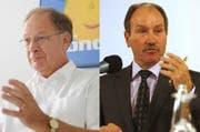 Die CVP-Kandidaten Hans Wallimann (links) und Niklaus Bleiker. (Bilder Roger Zbilnden/Neue NZ Corinne Glanzmann/Neue LZ)