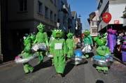 Invasion der «Marsmallows» am Schmutzigen Donnerstag in Sarnen. (Bild: Christoph Riebli / Neue OZ)