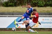 Jerome Thiesson gegen Nico Rodewald (Aalen). (Bild: Martin Meienberger)