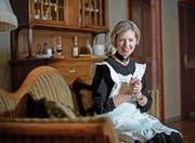 Rita Rüttimann (72) mimt im Stück «Arsen und Spitzenhäubchen» die Figur Abby Brewster.Bild: Corinne Glanzmann (Ruswil, 18. März 2017)