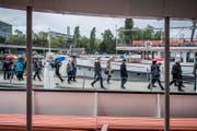 Fraktionsausflug der FDP: Rundgang durch die Werft der Shiptec. (Bild: Pius Amrein (Luzern, 12. September 2017))