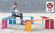Durchgefallen ist bei den Leuten die Metall-Sitzbank in der Tribschenstadt. (Bilder: Dominik Wunderli (Luzern, 12. September 2017))