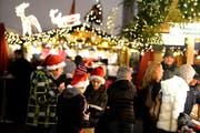 Weihnachtsmarkt auf dem Franziskanerplatz. (Bild: Nadia Schärli / Neue LZ)