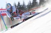 Einziger Schweizer in Adelboden in den Top Ten: Loïc Meillard (Bild: KEYSTONE/PETER SCHNEIDER)