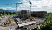 Die Bauarbeiten für die erste Etappe schreiten voran. (Bild: Stefan Kaiser (Baar, 26. Juni 2017))
