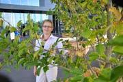 Laura Grüter Bachmann (47) auf dem Europaplatz. (Bild Robert Knobel)