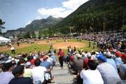 Das Urner Kantonale Schwingfest lockte am Sonntag 2500 Zuschauer an. (Bild: Urs Hanhart / Neue UZ)