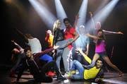 Szenen-Höhepunkt des Musicals Daddy Cool, einer jüngsten Produktion im «Le Théâtre». (Bild: PD)