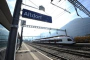 Der Bahnhof Altdorf.
