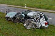 Bei schweren Unfällen (im Bild ein tödlicher Unfall zwischen Willisau und Hergiswil) kommt das Care-Team zum Einsatz. (Bild: Pius Amrein / Neue LZ)
