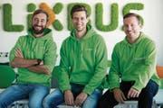 Das Flixbus-Führungstrio (von links):Daniel Krauss, Jochen Engert und André Schwämmlein (Bild: pd)
