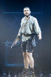 Schauspieler Pan Aurel Bucher (26) aus Luzern ist der jüngste und erste Nichturner Tell-Darsteller. (Bild: Keystone / Urs Flüeler)