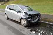 Die Autofahrerin wurde verletzt. (Bild: Luzerner Polizei (Willisau, 28. März 2018))