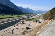 In diesem Gebiet in Erstfeld möchten die Urner Schützen eine regionale Schiessanlage bauen. (Bild: Anian Heierli / Neue UZ)