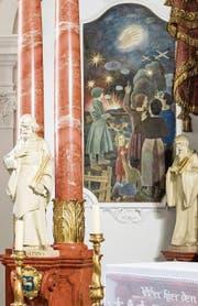 In der Wallfahrtskirche von Melchtal erinnert ein Wandfresko an das «Wunder von Waldenburg».