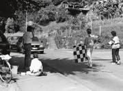 Die Autoabwinkaktion der L20 1987 beim Winkel. (Bild: PD)