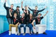 Die Sieger an den Schweizermeisterschaften der Gebäudetechnik. (Bild: pd)