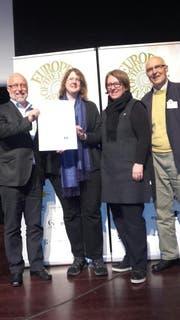 Bei der Nominierungsveranstaltung zum Europäischen Museumspreis erhielt das Ziegelei-Museum aus der Gemeinde Cham eine Auszeichnung. (Bild: Ziegelei-Museum Cham)