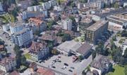 Blick auf den Gemeindehausplatz in Kriens. (Bild: PD)