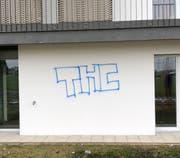 Eine besprayte Hausfassade. (Bild: Luzerner Polizei)