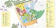 Grundriss des geplanten Themenspielplatzes. (Bild: PD)