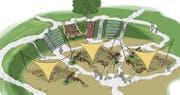 In der sogenannten Mammut-Grube können Klein und Gross selbst zu Archäologen werden. (Bild: Visualisierung pronatour GmbH Leobendorf)