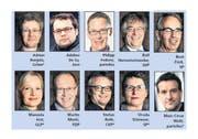 Die Kandidaten für den Luzerner Stadtrat. Jene mit Sternchen (*) kandidieren auch fürs Stadtpräsidium.