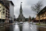Blick auf die Pauluskirche. (Bild: Nadja Schärli (Luzern, 18. März 2013))