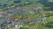 Die Tangente Zug-Baar wird Siedlungsgebiete von Zug und Baar von Verkehr entlasten. (Bild: PD)
