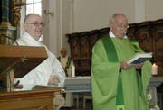 Pfarrer Edgar Hasler (rechts) mit Pastoralassistent Martin Weick Rohrer. (Bild zVg)