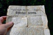 Die «Schwyzer Zeitung» vom 19. November 1850 war nichts anderes als ein politisches Kampfblatt. (Bild: Bert Schnüriger)