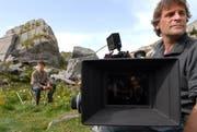 Dreharbeiten im Schächental im Herbst 2008 für den Film «Sennentuntschi». (Bild Sven Aregger/Neue UZ)