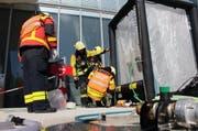 Die Feuerwehr führte fortlaufend Messungen durch, um die Ammoniakkonzentration zu ermitteln. (Bild Freiwillige Feuerwehr Zug)