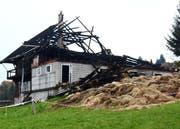 Das abgebrannte Haus in einer Luzerner Landgemeinde. (Bild: PD)