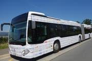 ... und ist ab sofort auf dem gesamten ZVB-Liniennetz unterwegs: Der neu beschriftete ZVB-Bus. (Bild: PD)