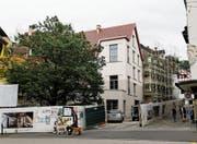 Die Baustelle im Kolingeviert von aussen. (Bild: Stefan Kaiser (9. August 2017))