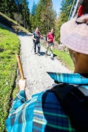 Immer mehr Menschen zieht es zum Wandern in die Natur. So wie hier am Pilatus im Gebiet Alpgschwänd oberhalb von Hergiswil. (Bild Roger Grütter)