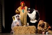 Spieler des Theaters Kriens traten unter dem Titel «Dr. Doolittle» an der Bööggerätschete auf. (Bild: Manuela Jans / Neue LZ)