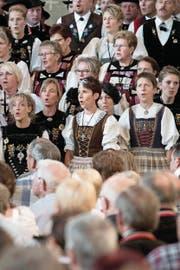 Stimmgewaltig: das Entlebucher Jodlertreffen in Finsterwald. (Bild: Manuela Jans-Koch (21. August 2015))