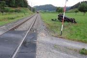 Die Unfallstelle beim Bahnübergang Riedmatt. (Bild: pd)