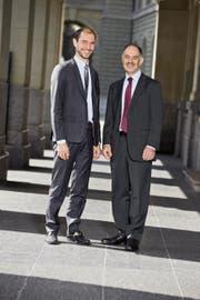 Wachablösung bei Ethos: Vincent Kaufmann (links) soll an der heutigen Generalversammlung zum neuen Direktor und Nachfolger von Dominique Biedermann gewählt werden. (Bild Eveline Beerkircher)