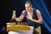 Marco Kunz (30) am Sonntagabend an der Verleihung des Prix Walo in Zürich. (Bild: Keystone)
