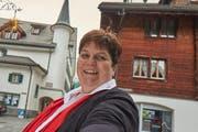 Sie ist die erste Frau an der Spitze der Gemeinde Andermatt: Yvonne Baumann. (Bild: Werner Tschan)