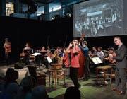 Spiel mit Volksmusikoriginalen im Neubad. (Bild: Peter Fischli/LF (9. April 2017))